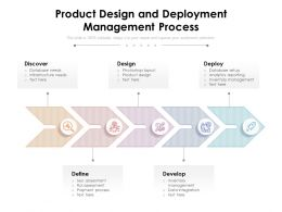 Product Design And Deployment Management Process