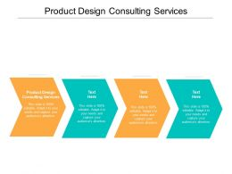 Product Design Consulting Services Ppt Powerpoint Presentation Professional Inspiration Cpb