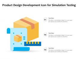 Product Design Development Icon For Simulation Testing