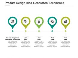 Product Design Idea Generation Techniques Ppt Powerpoint Model Cpb