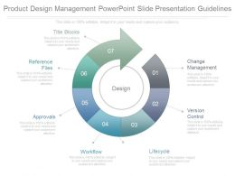 Product Design Management Powerpoint Slide Presentation Guidelines