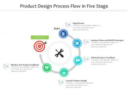 Product Design Process Flow In Five Stage