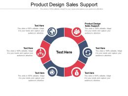 Product Design Sales Support Ppt Powerpoint Presentation Layouts Samples Cpb