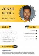 Product Designer Resume Sample For Job Opportunity CV Template