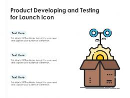 Product Developing And Testing For Launch Icon