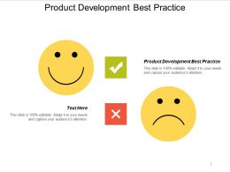 Product Development Best Practice Ppt Powerpoint Presentation Summary Layouts Cpb
