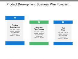 Product Development Business Plan Forecast Strategic Business Plan