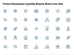 Product Development Capability Maturity Model Icons Slide Gear L887 Ppt Icon