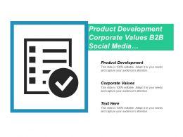 Product Development Corporate Values B2b Social Media Marketing Strategy Cpb
