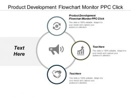 Product Development Flowchart Monitor PPC Click Ppt Powerpoint Presentation Summary Graphic Images Cpb