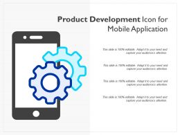 Product Development Icon For Mobile Application