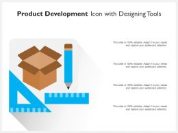 Product Development Icon With Designing Tools