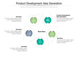 Product Development Idea Generation Ppt Powerpoint Presentation Pictures Examples Cpb