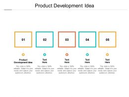 Product Development Idea Ppt Powerpoint Presentation Icon Example Introduction Cpb