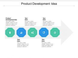 Product Development Idea Ppt Powerpoint Presentation Pictures Brochure Cpb