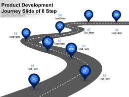Product Development Journey Slide Of 8 Step