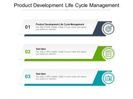 Product Development Life Cycle Management Ppt Powerpoint Presentation Styles Backgrounds Cpb