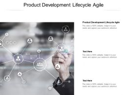 Product Development Lifecycle Agile Ppt Powerpoint Presentation File Designs Download Cpb