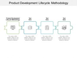 Product Development Lifecycle Methodology Ppt Powerpoint Presentation Infographics Graphic Tips Cpb