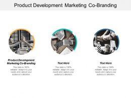 Product Development Marketing Co Branding Ppt Powerpoint Presentation Professional Gallery Cpb