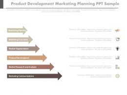 Product Development Marketing Planning Ppt Sample