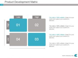 Product Development Matrix Powerpoint Presentation Design