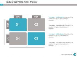 Product Development Matrix Powerpoint Presentation Design