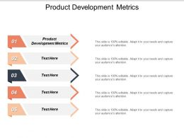 Product Development Metrics Ppt Powerpoint Presentation Summary Model Cpb