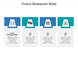 Product Development Model Ppt Powerpoint Presentation Slides Icons Cpb