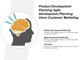 Product Development Planning Agile Development Planning Voice Customer Marketing Cpb