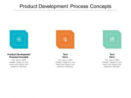 Product Development Process Concepts Ppt Powerpoint Presentation Show Pictures Cpb
