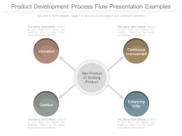 Product Development Process Flow Presentation Examples