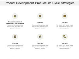Product Development Product Life Cycle Strategies Ppt Powerpoint Presentation Inspiration Objects Cpb