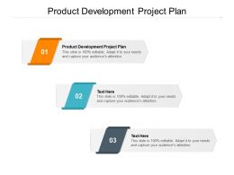 Product Development Project Plan Ppt Powerpoint Presentation Summary Cpb