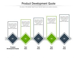 Product Development Quote Ppt Powerpoint Presentation Slides Icons Cpb