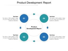 Product Development Report Ppt Powerpoint Presentation Gallery Designs Cpb