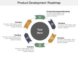 Product Development Roadmap Ppt Powerpoint Presentation Show Templates Cpb
