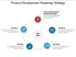 Product Development Roadmap Strategy Ppt Powerpoint Presentation Layouts Cpb