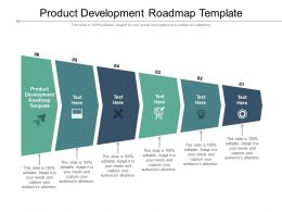 Product Development Roadmap Template Ppt Powerpoint Presentation Outline Themes Cpb
