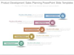 Product Development Sales Planning Powerpoint Slide Templates