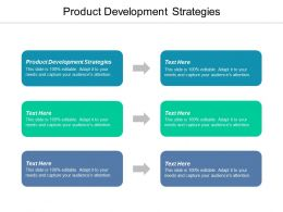 Product Development Strategies Ppt Powerpoint Presentation Styles Design Inspiration Cpb