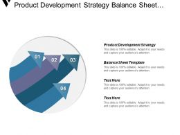 Product Development Strategy Balance Sheet Template Product Development Example Cpb