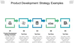 Product Development Strategy Examples Ppt Powerpoint Presentation Infographics Graphics Cpb
