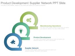 Product Development Supplier Network Ppt Slide