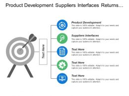Product Development Suppliers Interfaces Returns Reworks Demand Management