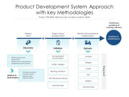 Product Development System Approach With Key Methodologies