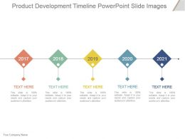 Product Development Timeline Powerpoint Slide Images