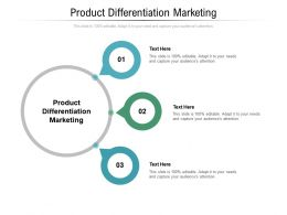 Product Differentiation Marketing Ppt Powerpoint Presentation Inspiration Layout Ideas Cpb
