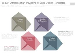 Product Differentiation Powerpoint Slide Design Templates