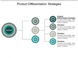 Product Differentiation Strategies Ppt Powerpoint Presentation Gallery Samples Cpb
